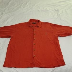 Men's Villini 100% Silk Button-up Shirt Size Large